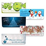 Money Envelope Variety Pack- Christmas 250pcs - 5 Deluxe Gift Envelopes