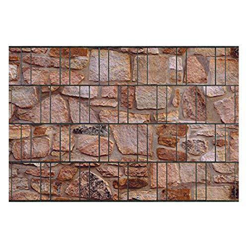PerfectHD Zaunsichtschutz - Sichtschutz mit Motiv - Sichtschutz Bedruckt - Sandstein - Polyester Gewebe - 26 m Rolle - 19 cm breit - 32 Motive