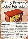 TiuKiu clásico Metal Signs – 1966 General Electric Color Televisions – 8' x 12'