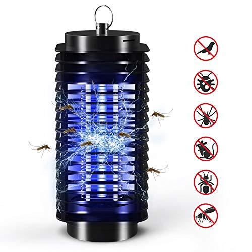 BIILII Elektrischer Insektenvernichter, UV Insektenfalle Mückenlampe, Insektenlampe Zeltlampe, Tragbare Mückenlampe Schutz vor Elektrischem Schlag Insektenvernichter Insektenfalle für Innen und Außen
