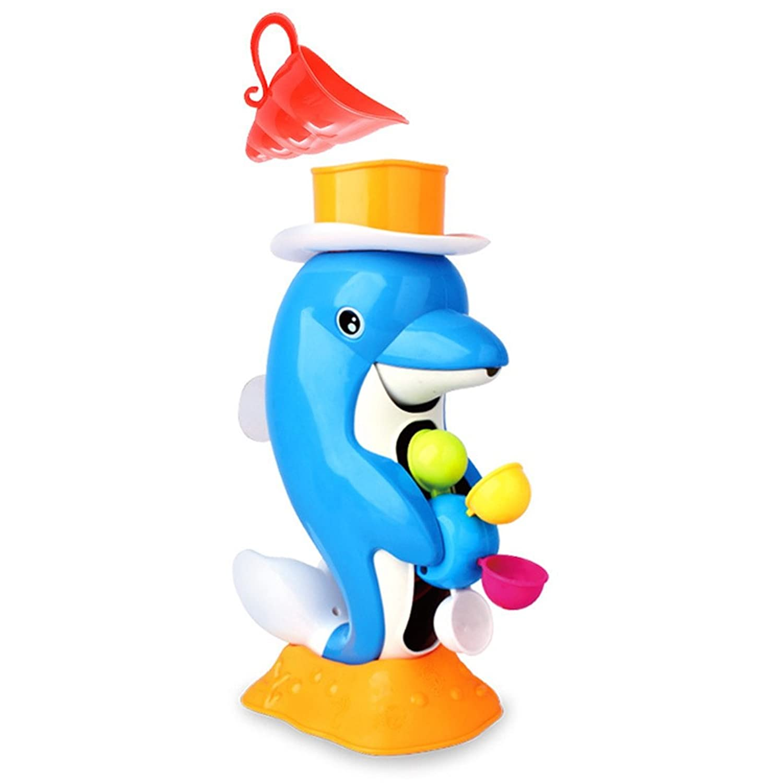 Xigeapg カード 赤ちゃん幼児のバスのおもちゃ イルカのバスおもちゃ バスルームのシャワー玩具