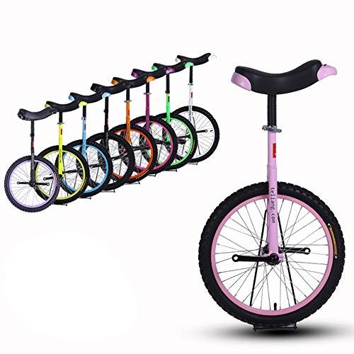 """HWF Einrad Kinder 16\"""" Zoll Rad Einrad für Kinder/Jungen/Mädchen, Hochleistungsstahlrahmen und Leichtmetallrad, Bestes Geburtstagsgeschenk, 8 Farben Optional (Color : Pink, Size : 16 Inch Wheel)"""