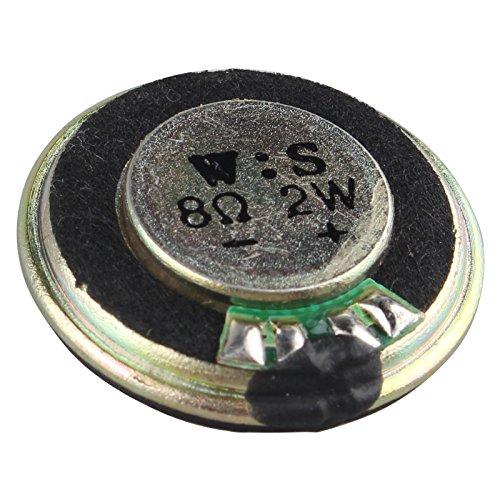HALJIA 2W 8 Ohm 28mm Diarunde Metall Shell Verstärker Interne Magnet Lautsprecher Kompatibel mit Spielzeug Audiowiedergabe DIY