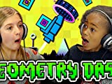 Kids Play Geometry Dash