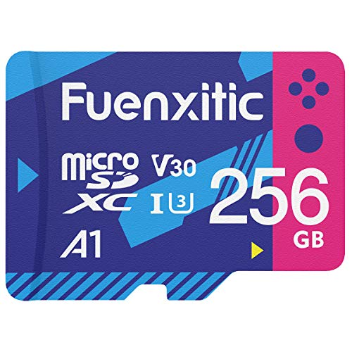 256GB Micro SD Card for Nintendo Switch and Switch Lite,U3 High Transfer Speed Class 30 Memory Card for DJI Drone Dash Cam Surveillance Camera, MicroSD Card with Adapter, High Speed up to 100MB/S