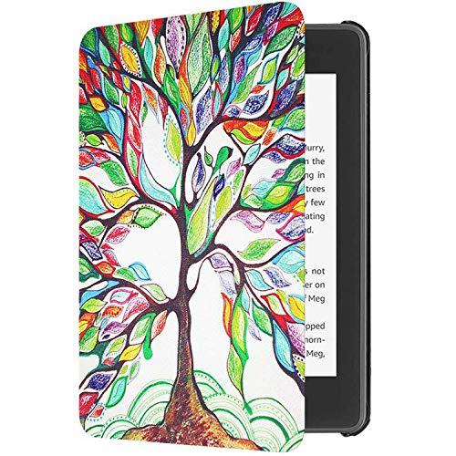 Funda para Amazon Kindle 2019 de 10ª generación, piel sintética, silicona, automático, despertador, magnético, carcasa de 360 grados, impermeable para Amazon Kindle 2019 10ª pantalla 6