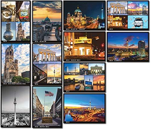 Berlin Postkarten 12-teiliges Set | verschiedene Motive | mehrfach beschichtet, designed in Berlin | Standart-Format A6