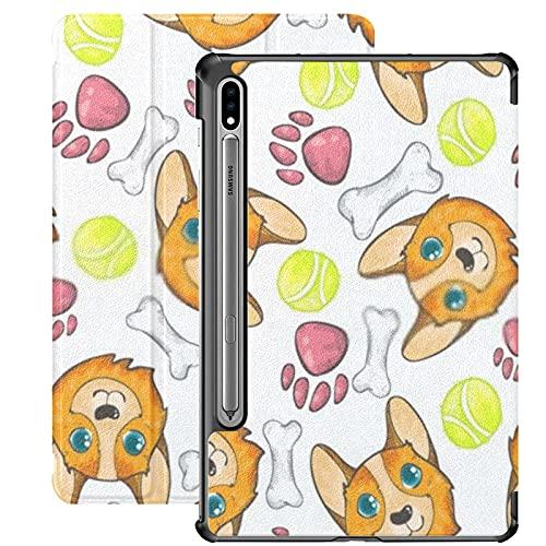 Funda para Galaxy Tab S7 Funda Delgada y Ligera con Soporte para Tableta Samsung Galaxy Tab S7 de 11 Pulgadas Sm-t870 Sm-t875 Sm-t878 2020 Release,Pembroke Welsh Corgi