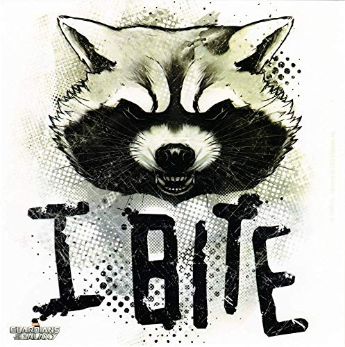 Square Deal Recordings & Supplies - Guardians of The Galaxy - Rocket Raccoon - I Bite - Sticker
