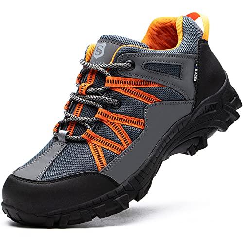 BAOLESEM Wanderschuhe Herren Damen Wasserdicht Trekkingschuhe Männer Hiking Outdoor Atmungsaktiv Anti-Rutsch Herren Sportlich Schuhe Größe 36-48