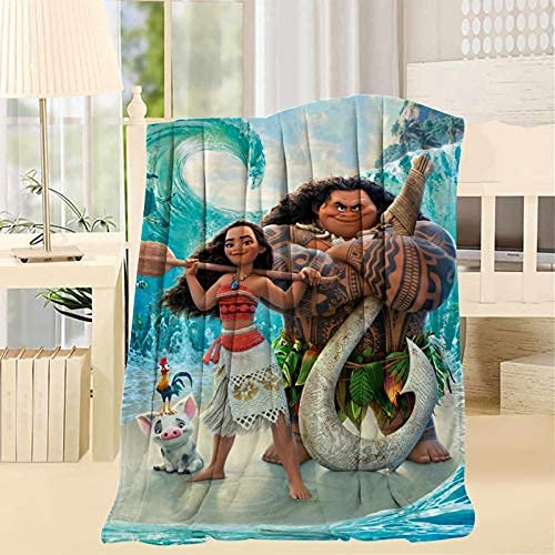 Fashion DIY Cartoon Blanket Warm Adult Super Soft Blanket with Anti-Pilling Flannel for Children/Adults/Parents/Grandparents Xmas Birthday Gift Anime 50x40