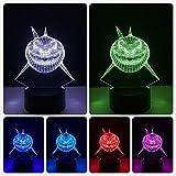Ocean animal shark 3D lámpara de mesa LED multicolor decoración de fiesta USB