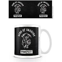 Pyramid International Sons Of Anarchy MG23294 - Taza de cerámica Prospect, color blanco y negro