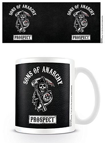 Pyramid International Sons Of Anarchy MG23294 - Taza de cerámica Prospect, color blanco y negro