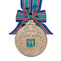[レーザー彫刻名入れ] GOLD SHACHI 表彰メダル MA80(直径80mm) 【賞 金】