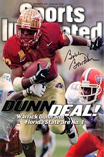 Warrick Dunn Sports Illustrated Autograph Replica Super Print - Dunn Deal - Florida State Seminoles - 12/9/1996 - Unframed