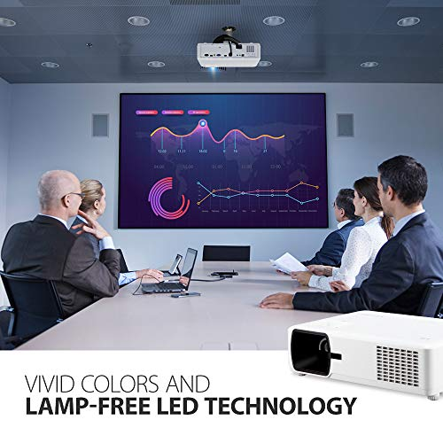 ViewSonic Bright 3000 Lumens WXGA Lamp Free LED Projector with HV Keystone and 360 Degree Flexible Installation, LAN Control, 10W Speaker, IP5X Dust Prevention for Home and Office (LS600W)