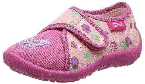 BECK Mädchen Schmetterling Flache Hausschuhe, Pink (03), 31 EU