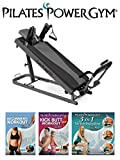 Pilates Power Gym Plus - Ultimate Mini Reformer with Push Up Bar and 3 Celebrity Trainer Pilates...