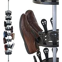 Deuba Zapatero giratorio carrusel telescópico hasta 96 zapatos estantería de 8 niveles organizador almacenaje interior