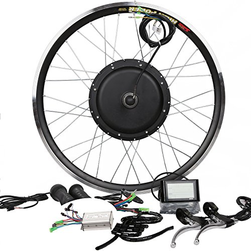 48V500W Hub motor bicicleta eléctrica Kit de conversión + LCD + freno...