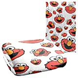 Sesame Street Elmo Face Pattern Officially Licensed Silky Touch Super Soft Throw Blanket 36' x 58'