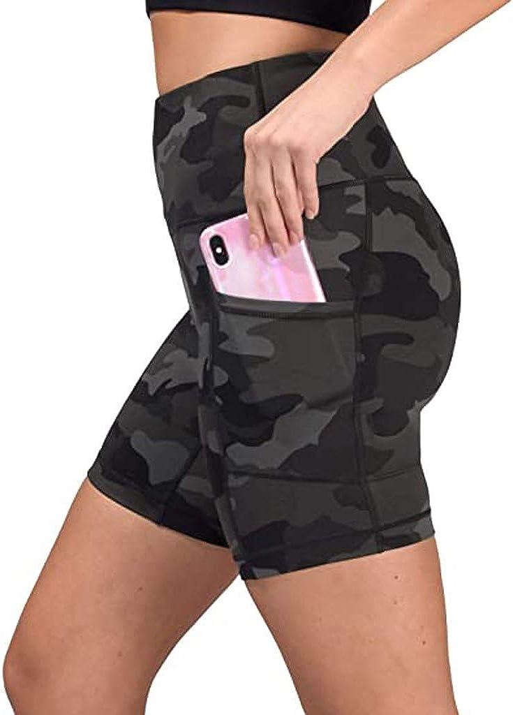 Hotkey Yoga Pants for Women, Fashion Camouflage Pockets Sports Yoga Shorts Stretch Workout Fitness Leggings