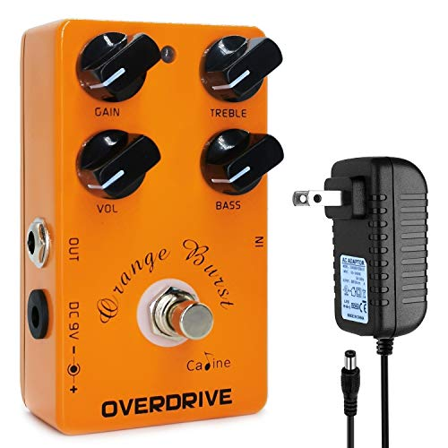 Orange Buist Electric Guitar Overdrive Analog Effect Pedal True Bypass with 9V Power Adaper, Overdrive Sound Processor with 4 Control Knobs Gain, Treble, Bass, Vol, Portable Size and Well Constructed. Buy it now for 39.99