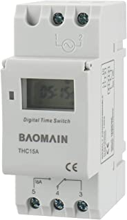 Baomain Thc15A Dc 12V Digital Lcd Power Programmable Timer Switch Relay 16A Amp