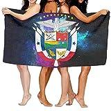 Toalla de Playa Escudo de Panamá Suave Ligero Absorbente para Baño Piscina Yoga