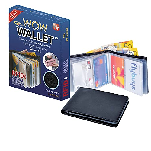 Amazing Men and Women Slim Leather wonder Wow Wallet - Credit Card Protector - RFID Blocking Case by ALLmuis