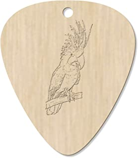 7 x 'Palm Cockatoo' Guitar Picks / Pendants (GP00022631)
