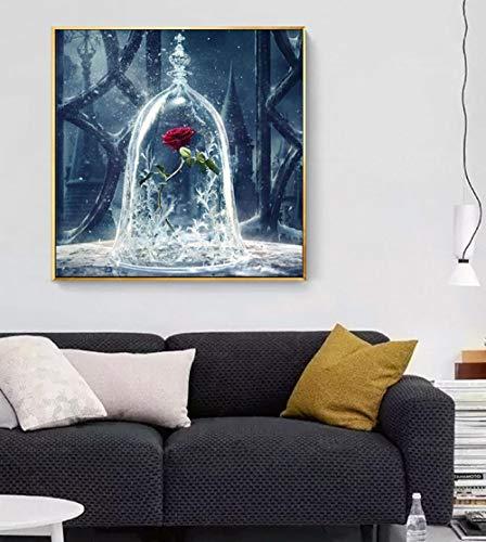 5D diamante pintura DIY diamante cuadrado art-rhinestone crystal picture kit de bordado artesanías de arte puntada cruzada cubierta de cristal de hielo rosa 30X30cm