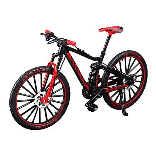 sharprepublic 1/10 in Lega di Zinco Bicicletta da Corsa Mountain Bike Modello Giocattolo della Barretta per la Parete Decorazione Scrivania Artigianato - Rosso