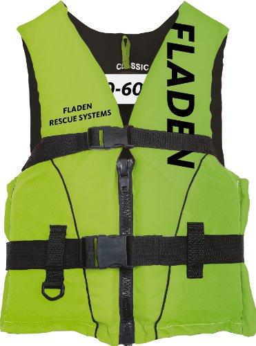 Fladen Classic Schwimmhilfe/ Schwimmweste, 50 N Auftrieb grün Lime/Black 60+ Kg