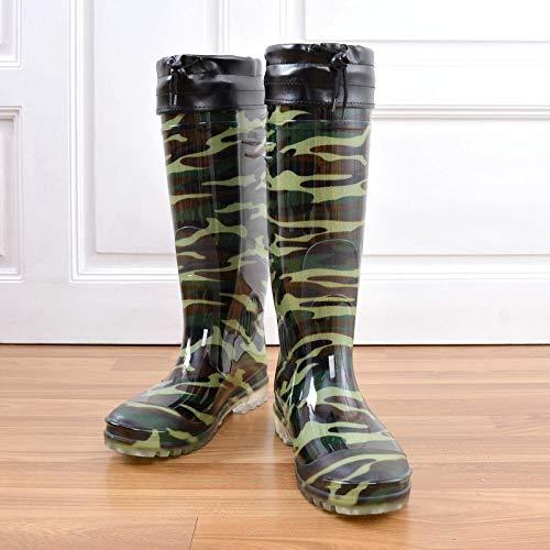 Wellies Rubberen laarzen, hoge buis, regenlaarzen, antislip, slijtvaste regenlaarzen, werklaarzen, dikke zolen, van rubber, schoenen, hoge schoenen, om warm water te camouflage, maat
