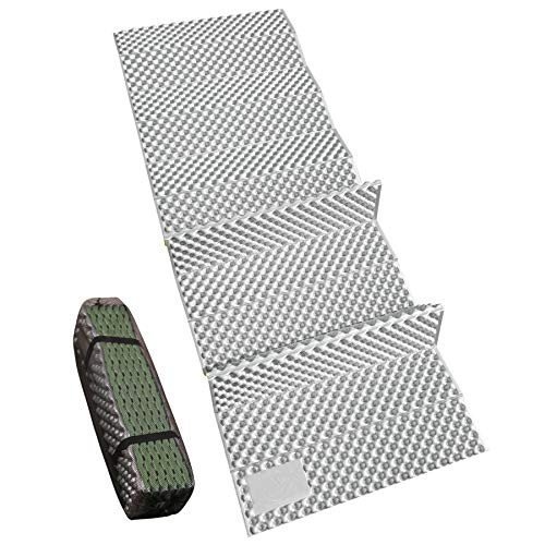 """REDCAMP Closed Cell Foam Sleeping Pad for Camping, 22"""" Wide Lightweight Folding Camping Pad for Hiking Backpacking, 72""""x22""""x0.75"""", Green 1 Pack"""