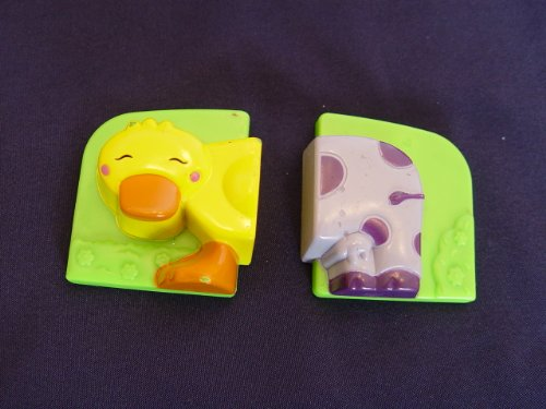 Leapfrog Fridge Farm Magnet Replacement Front Half of Duck, Back Half of Purple Cow Magnets