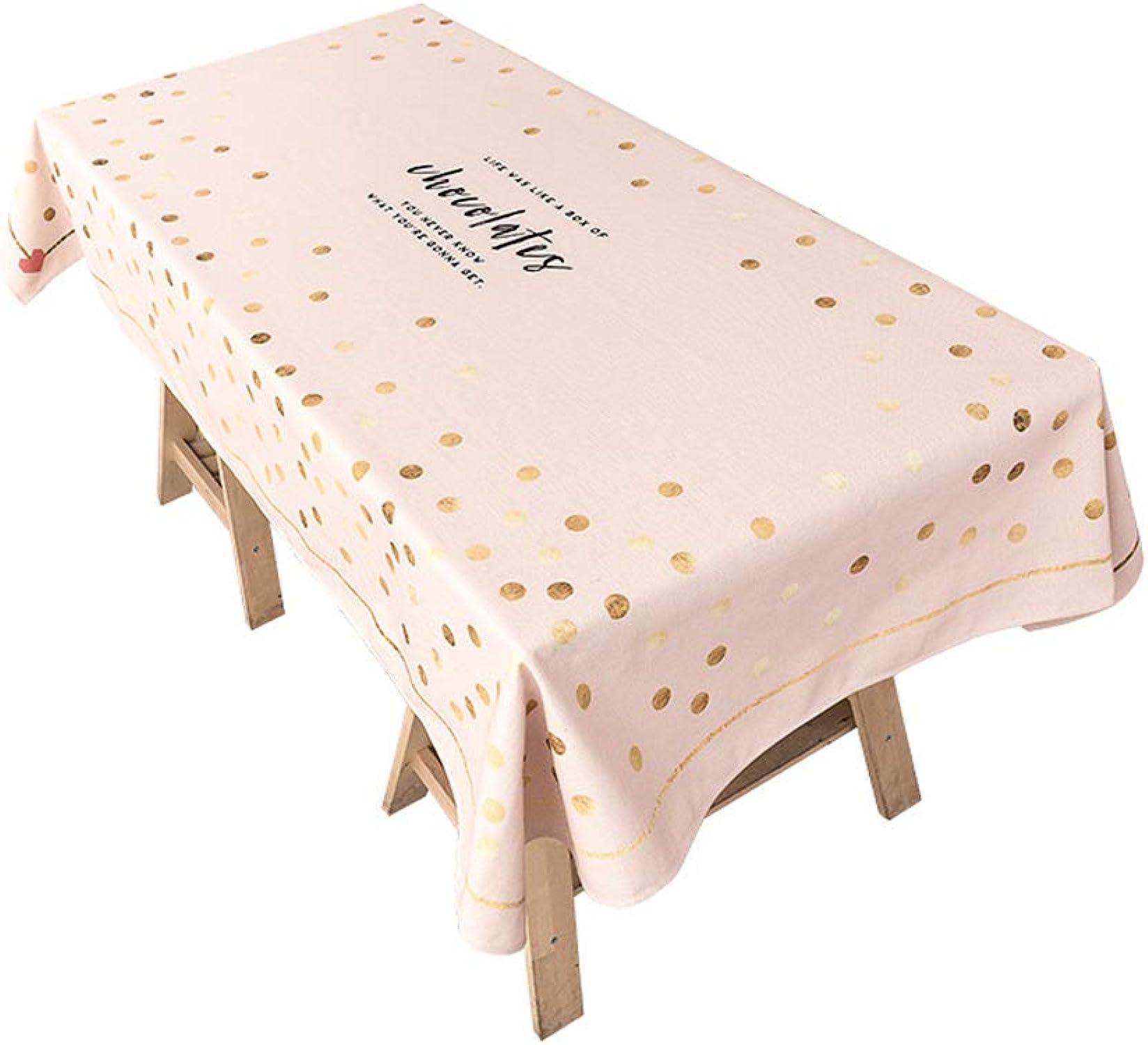 HY Manteles Mezclados, Manteles rectangulares de Estilo nórdico, Telas de Mesa de café Antiarrugas de Estilo Americano, 140x180CM, C