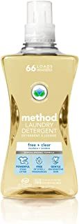 Method Laundry Detergent, Free + Clear, 53.5 Fluid Ounces, 66 Loads