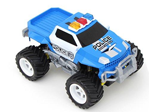 Diawell RC ferngesteuertes Polizei Pick Up Polizeiauto Monstertruck Truck Vollfederung Warnlicht 210 mm Lang