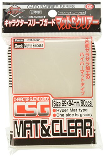 Barrier Character Guard Card Sleeves (60 Piece), Matte Clear, 69 x 94mm