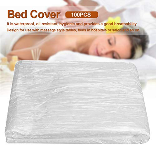 beiyoule 100pcs Disposable Use DIY Salon Waxing Protection Massage Tables Spa Bed Sheets