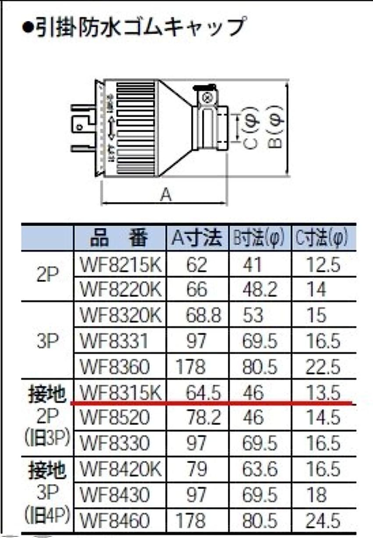 大きなスケールで見ると感嘆吐くパナソニック(Panasonic) 引掛防水ゴムキャップ 接地2P ブラック WF8315K