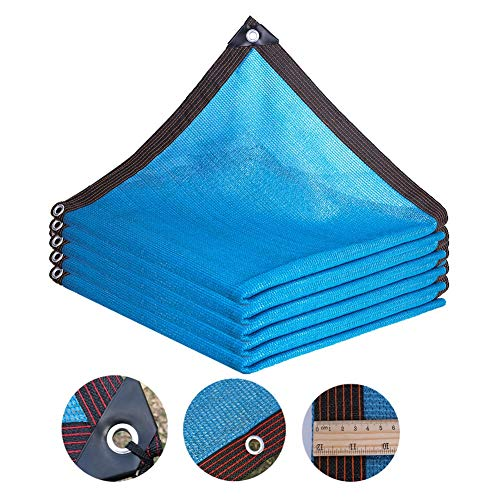 Waterafstotend schaduwdoek blauw HDPE anti-UV zonwering net tuin zonwering zonwering schaduw doek doek plantenkas afdekking auto-afdekking 85% Shading rate