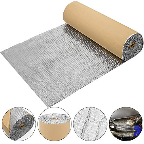 Moracle Espesor del papel de aluminio reflectante y aislante de 3 mm. Rollo 26 m para el piso del techo. Calentador de pared para tubería exterior