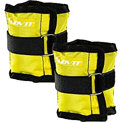 Movit 2er Set weight cuffs for wrists and ankles 2X 0,5kg barrel weights yellow