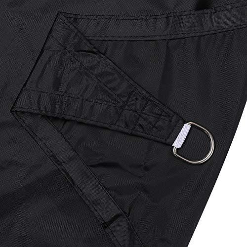 ZHAOHUI Voile D'ombrage Filet De Camouflage Tissu Oxford Rectangle 90% De Protection UV Coupe-Vent Anneau en D avec Corde pour Carport Entrepôt Clôture, 2x3m (Color : Black, Size : 6.6x9.8ft)