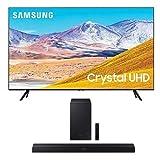 Samsung 85-inch Class Crystal 4K UHD HDR Smart TV (Alexa Built-in) with HW-T450 Soundbar