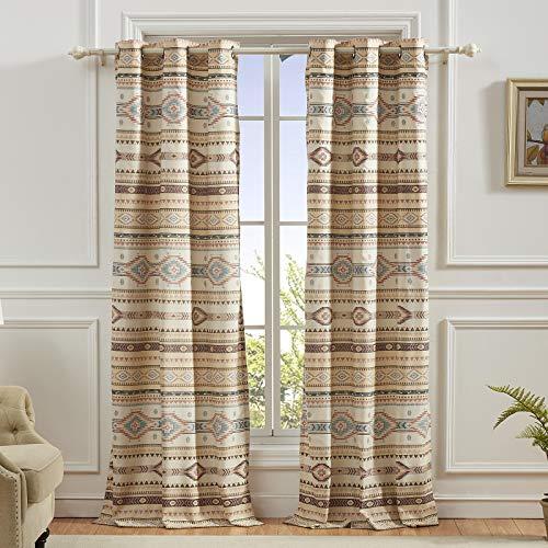 Barefoot Bungalow Phoenix Window Treatment, 84x84 inches, Tan